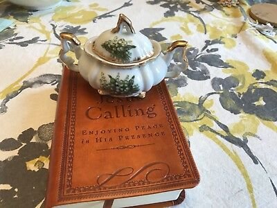 Vintage Napco Lily of the Valley Sugar Bowl Japan giftcraft