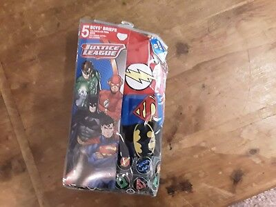 boys briefs size 8 pack of 5 justice league