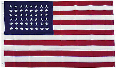 3x5 Embroidered Sewn USA 48 Stars Old Glory 210D Nylon Flag 3'x5' 48 Star