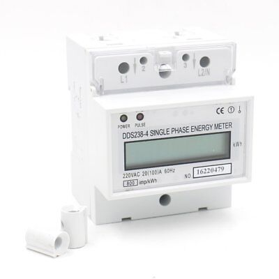 Baomain DDS238-4 20(100) Single Phase DIN-rail Type Kilowatt Hour kwh Meter 220V