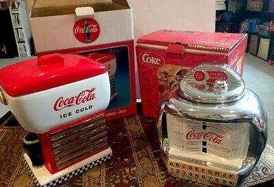 Lot Of 2- COCA-COLA COLLECTIBLE COOKIE JARS