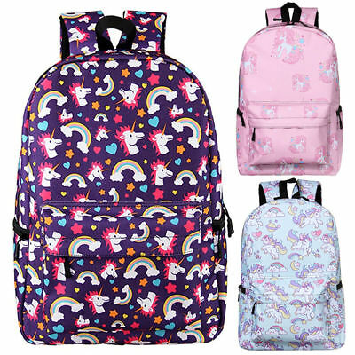 AU Girls Womens Unicorn Backpack Rucksack School Travel Shoulder Bag Satchel Red
