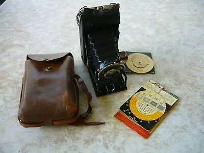 Vintage Camera - German with GAUTHIER PROTOR II Lens -with original leathercase