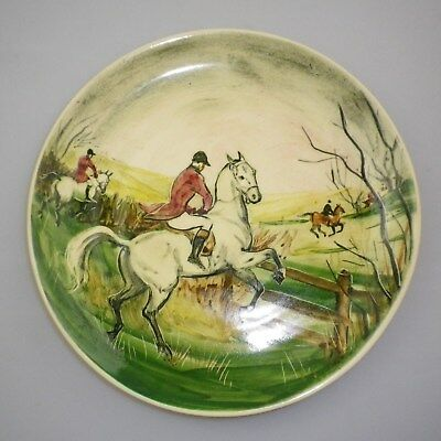 Martin  Boyd Handpainted Plate Decorated  With A Fox Hunting Scene