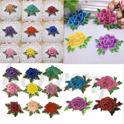 1pc Floral Embroidered Applique Trim Patch Fabric Embellishment Lace DIY Craft