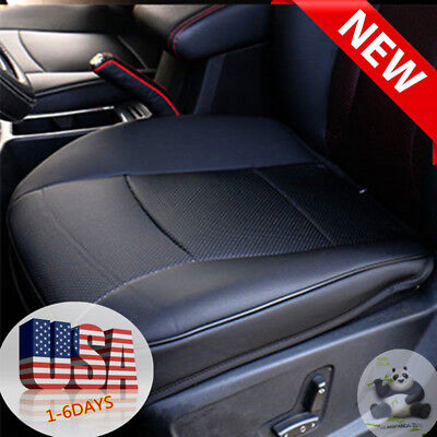 US-Ship PU Leather Car Front Seat Cushion Pad Protector Mat Cover Sedan Driver