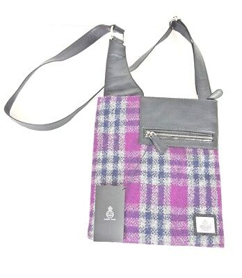 d15fe2195914 Maccessori Harris Tweed Pink Check Medium Cross Body Bag Purse New w  Tags