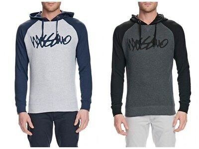 MOSSIMO Mens Script Waffle COTTON/POLY Hoody Pullover Jumper Sweatshirts S-XXL