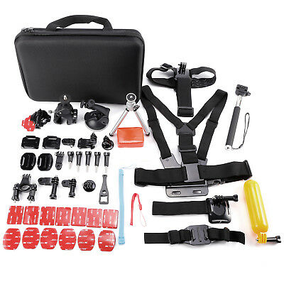 50-60 Accessories Set Kit For GoPro Hero 5 4 3 2 1 SJCAM Head Chest Strap Pole