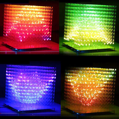 RGB LED CUBE 12x12x12 3D Matrix Cube Kit DIY Solder 3D Animation