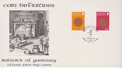 Unaddressed Guernsey FDC Cover 1980 Coin Definitives 10p-11 1/2p 10% off 5