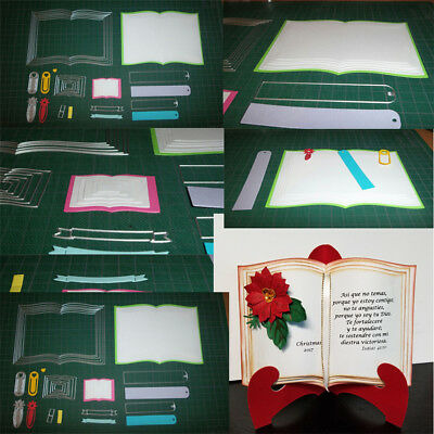 Vivid Books Frame Customized  Cutting Dies DIY Scrapbooking Album Craft Dies I
