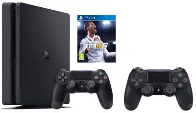 Sony Playstation 4 + FIFA 18 + Dualshock 4 500GB Wi-Fi Black - game consoles