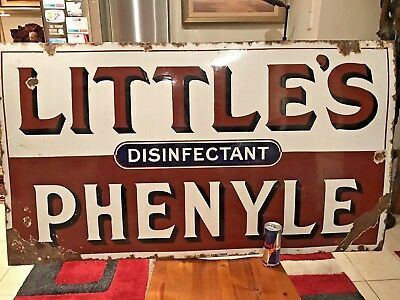 Large Vintage Antique Enamel Sign Late 19th To Early 20th Century 121cm X 69cm