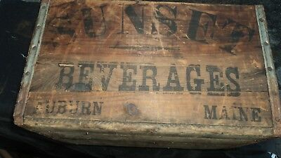 VINTAGE Sunset Soda Crate Auburn Maine