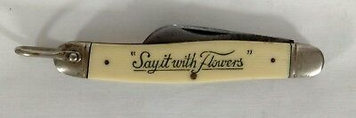 Vintage Camillus SAY IT WITH FLOWERS Folding Pocket Knife