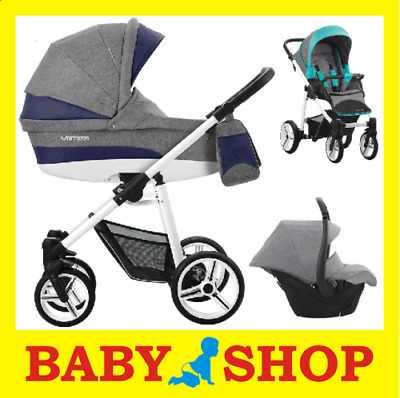 BEBETTO Vulcano S-Line 3in1 2018 Stroller Pushchair Sport seat FREE SHIPPING