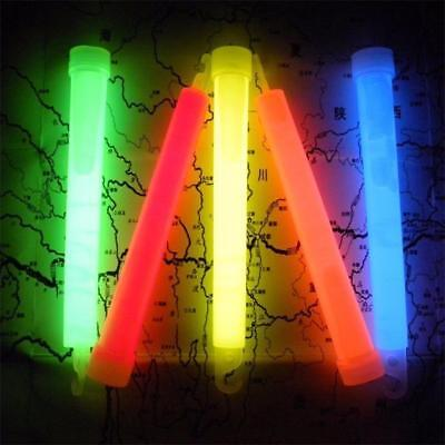 5X Glow Sticks Light Stick Mixed Colour Army Party Camping Glowsticks Set.^;