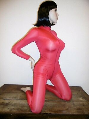Combinaison Moulante Sexy Catsuit Shiny Tu 2 Voies Overall All In One 427-