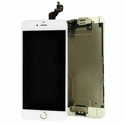 """Home Button+Camera Replacement For LCD Screen Digitizer White iPhone 6 Full 4.7"""""""