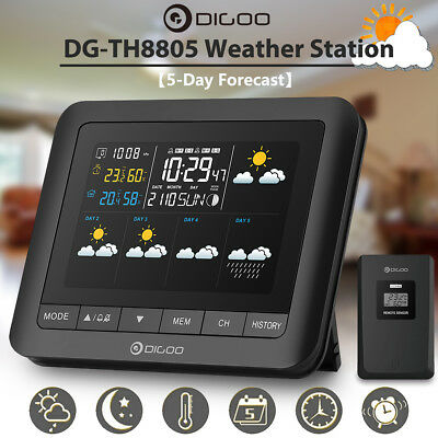 Digoo【5-Day Forecast】LCD Wireless Weather Station Hygrometer Thermometer Sensor