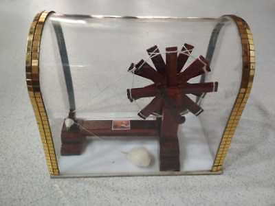 Wooden Generic Gandhian Charkha (spinning wheel) with Cabinet - Small Size Model