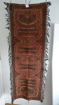 "Vintage/antique Colorful Folklore Arts & Crafts Dutch Paisley Runner ""bietkleed"""