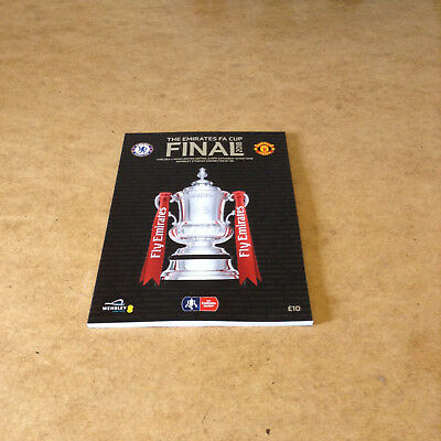 THE EMIRATES FA CUP FINAL 2018 PROGRAMME CHELSEA v MANCHESTER UNITED WEMBLEY