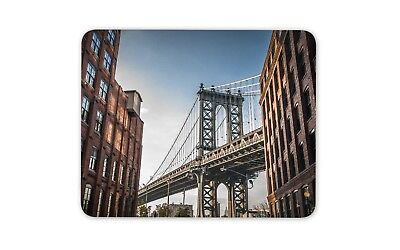 Manhattan Bridge USA Mouse Mat Pad - New York America Travel Gift Computer #8930