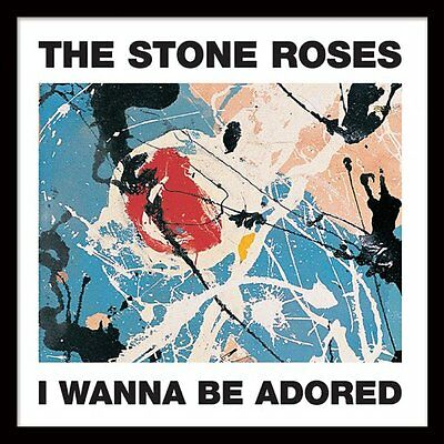 """The Stone Roses - I Wanna Be Adored - Framed 12"""" Single Cover Print ACPPR48048"""