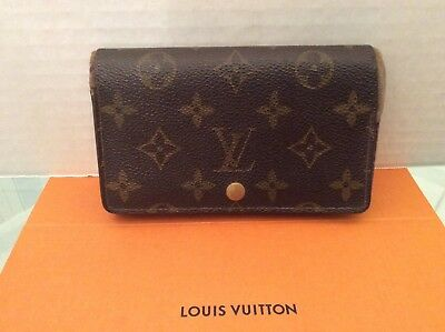 Louis Vuitton monogram Porte Monnaie Billets Tresor Wallet Authentic RA0924 VTG
