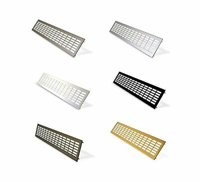 Wide Aluminium Air Vent Grille Cabinet Vent Under Cupboard Heater Grilles