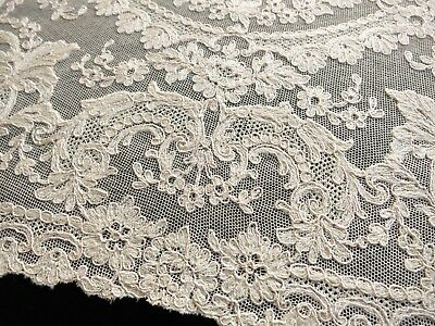 RARE & LUSH Antique French TAMBOUR LACE c1930 Set 8 PLACEMATS ~BEAUTIFUL~