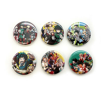 My Hero Academia #A 44MM 6PC PIN back BADGE BUTTON ANIME Boku No Hero Academia