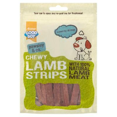 Good Boy Pawsley Dog Puppy CHEWY LAMB STRIPS Natural Meat Meaty Chews Treats 80g
