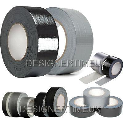Duck Duct Gaffa Gaffer Sticky Seal Waterproof Cloth Tape Silver Black 48mmx 50m