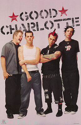 Lot Of 2 Posters:music : Good Charlotte - Group  Pose - Free Ship  #6558  Rc31 L