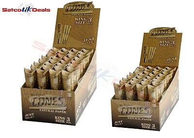 ORIZINAL KING SIZE Pre-Rolled CONE UNBLEACHED Smoking Tobacco Paper Rollin CONES