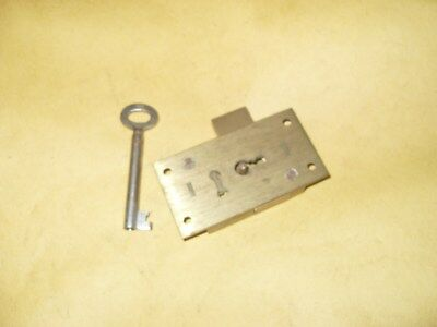 Willen No.48 2 Lever Brass Lock & 1 Key As Photo's.