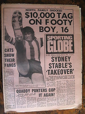 Sporting Globe    MARCH 6 1976 Stephen Easton Geelong North Melbourne