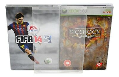 5 x SCF12 Dvd / PC / Xbox Steelbook Protectors 0.4mm PET Plastic Display Case