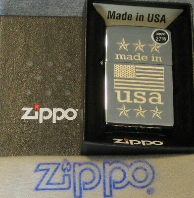 ZIPPO MADE IN USA  lighter AMERICAN FLAG  New  MINT 29430 LUSTRE