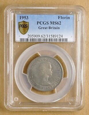 1953 Great Britain Florin PCGS MS62