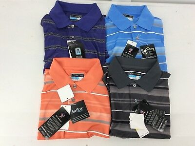 PGA TOUR - Mens AIRFLUX GOLF Polo Shirt - 4 colors.  SIZES MED-2XL  NEW MSRP $55