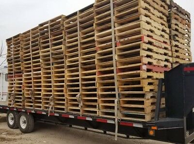 Used Recycled Wood Pallets 48x40in grade B / #2
