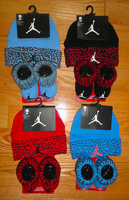 bcd2dcf19aa Air Jordan Baby Booties Infant Cap Hat Gift Set Combed Cotton 0-6 Months NWT