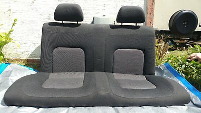 2003 VW Beetle Rear Bench seat, bottom and back Black/Grey Cloth Fabric