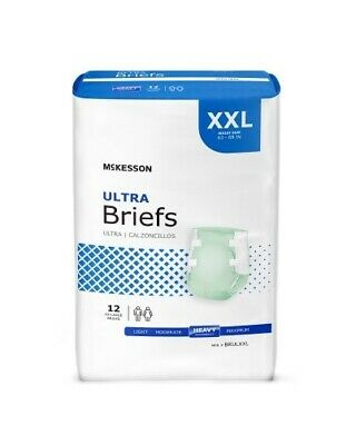 Adult Disposable Ultra Brief Diaper, 2X-LARGE, XXL, McKesson BRULXX - Pack of 12