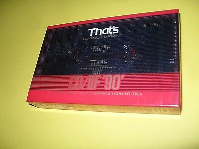 THAT`S CD/ IIF  90 Format Suono Cassette for type II recording OVP made in japan
