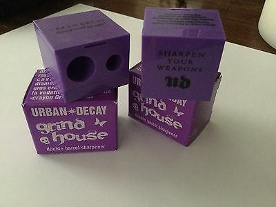 UD Urban Decay GRINDHOUSE Double Barrel Sharpener X 2 Box